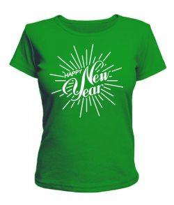 Женская футболка счастливый Новый Год