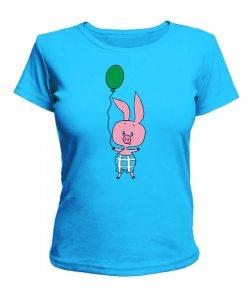 Женская футболка Пятачок новогодний