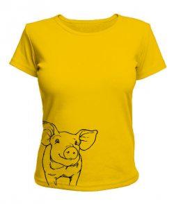 Женская футболка свинка