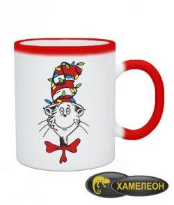 Чашка хамелеон Кот в шляпе