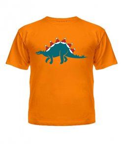 Футболка детская Новогодний динозавр