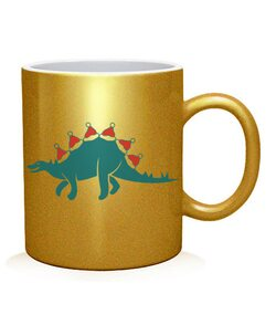 Чашка арт Новогодний динозавр