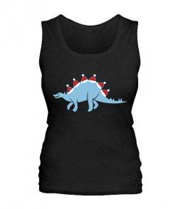 Женская майка Новогодний динозавр