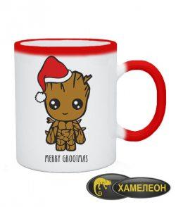 Чашка хамелеон Новогодний грут