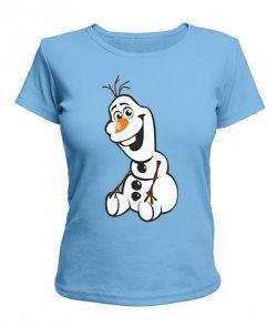 Женская футболка Снеговик Олаф