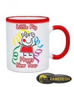 Чашка хамелеон Свинка Пепа