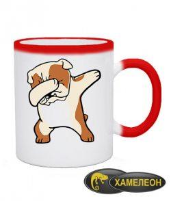 Чашка хамелеон Bulldog (бульдог)