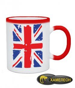 Чашка хамелеон Британский флаг2