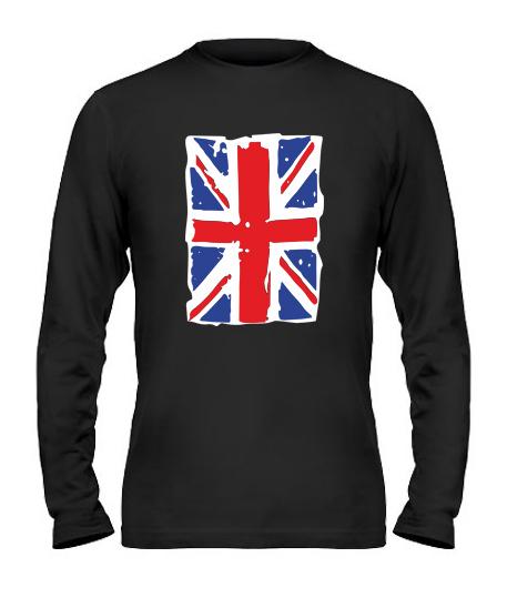 Мужской Лонгслив Британский флаг2