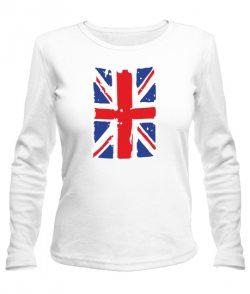 Женский лонгслив Британский флаг2