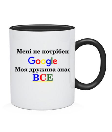 Чашка Мені не потрібен гугл ( google)
