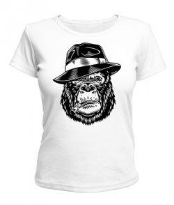 Женская футболка Горилла в шляпе