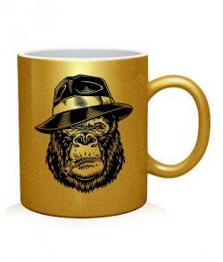 Чашка арт Горилла в шляпе