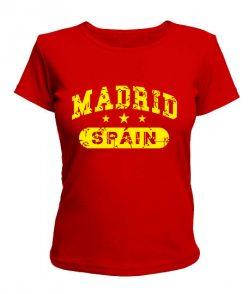 Женская футболка Мадрид