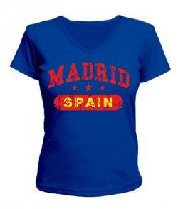 Женская футболка с V-образным вырезом Мадрид