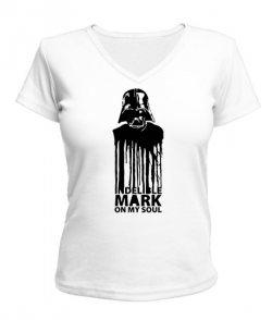 Женская футболка с V-образным вырезом Дарт Вейдер Вариант №4