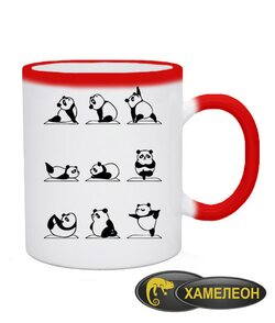 Чашка хамелеон Панда Йога (Panda)