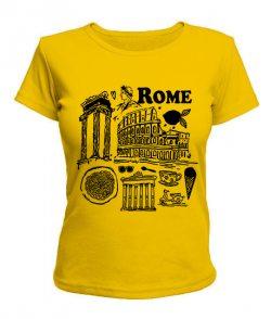 Женская футболка Рим