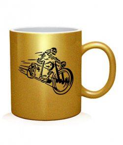 Чашка арт Скелет на мотоцикле