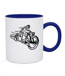 Чашка Скелет на мотоцикле