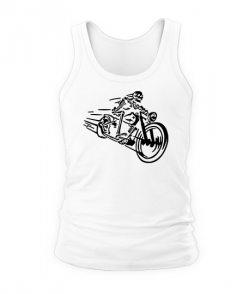 Мужская майка Скелет на мотоцикле