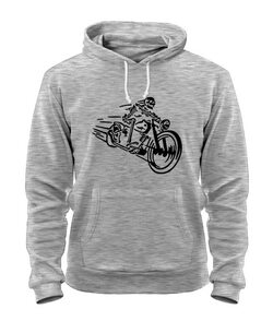 Толстовка Скелет на мотоцикле