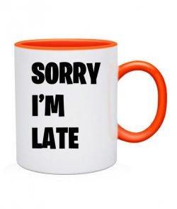 Чашка SORRY I'M LATE