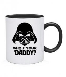 Чашка Кто твой Папа (Star Wars)