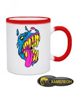 Чашка хамелеон Волк (Wolf)