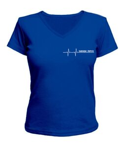 Женская футболка с V-образным вырезом Завжди поруч