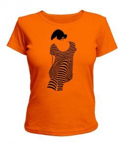 Женская футболка Девушка Зебра (Zebra)