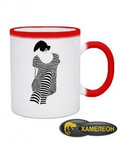 Чашка хамелеон Девушка Зебра (Zebra)
