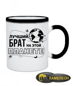 Чашка хамелеон Лучший брат на этой планете
