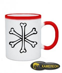 Чашка хамелеон Кости