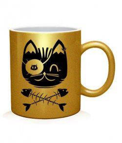 Чашка арт Кот Пират