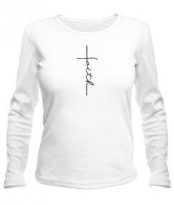 Женский лонгслив Вера (faith)