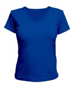 Женская футболка с V-образным вырезом Без рисунка (цвета в ассортименте)