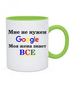Чашка Мне не нужен гугл ( google)