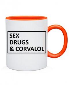 Чашка sex drugs & corvalol